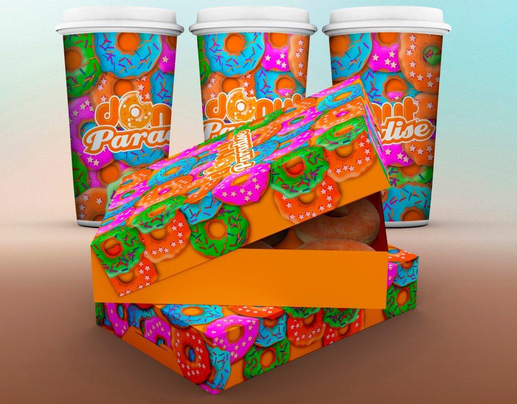 Donut paradise упаковка для пончиков