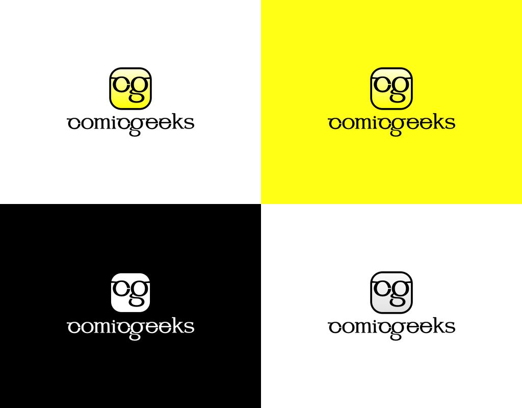 Цвета логотипа комикс магазина comic geeks