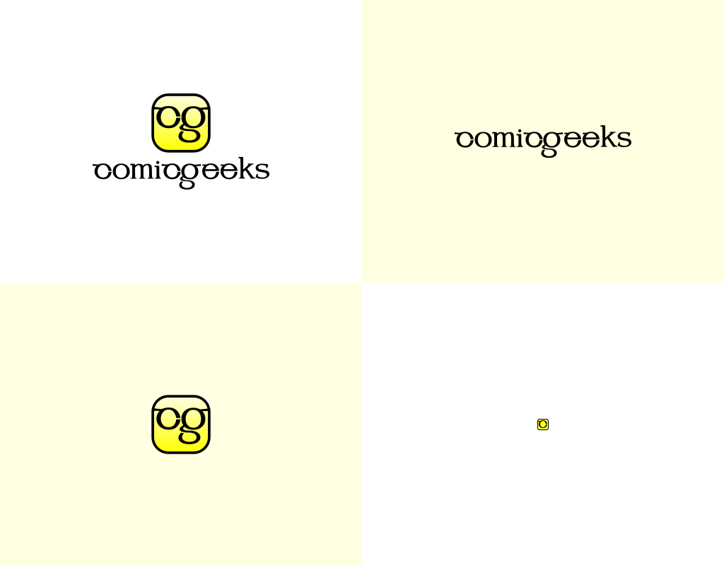 Формы логотипа для магазина comicgeeks