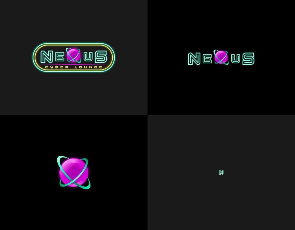 Формы логотипа для киберспортивного лаунжа