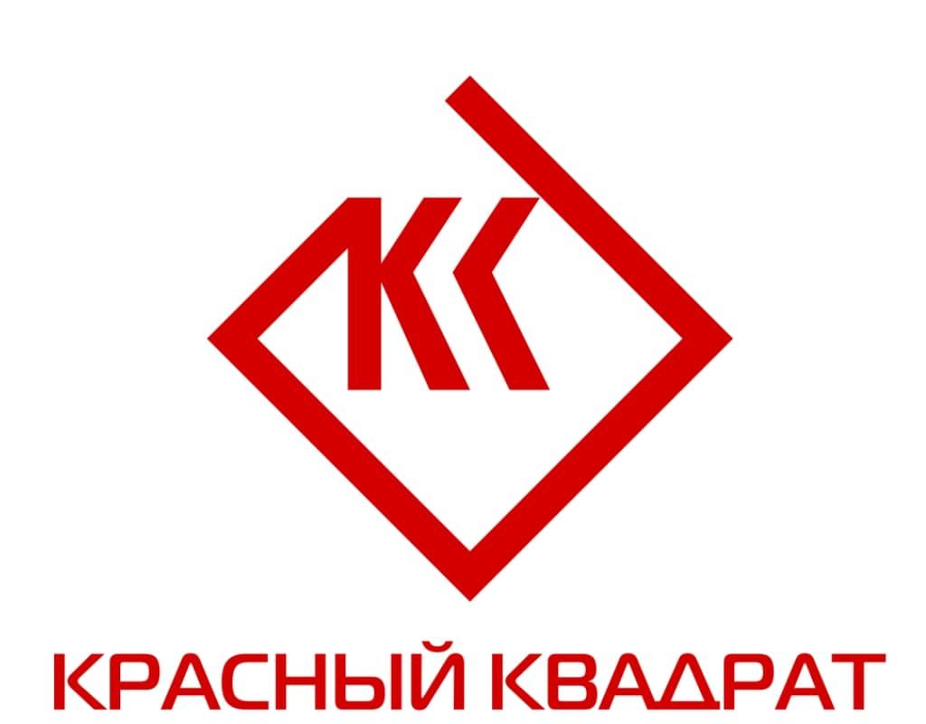 Красный квадрат логотип агентства недвижимости