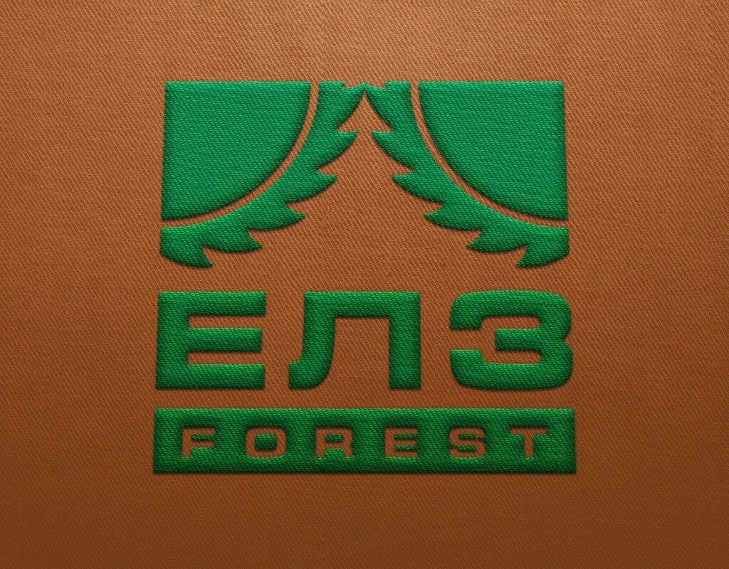 Логотип для лесозаготовительной компании ЕЛЗ форест