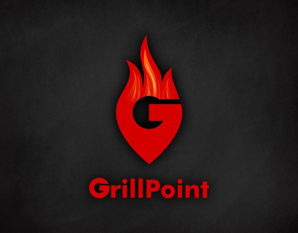 Grillpoint логотип на фирменном фоне