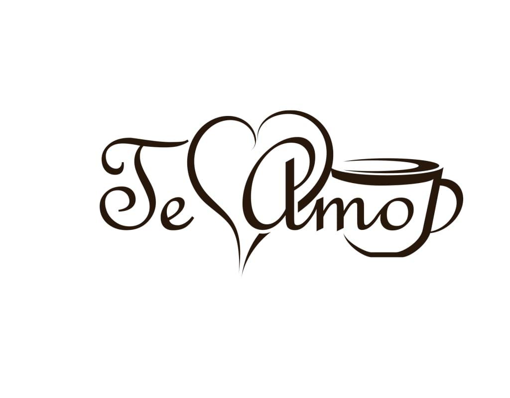 Te Amo логотип кофейни