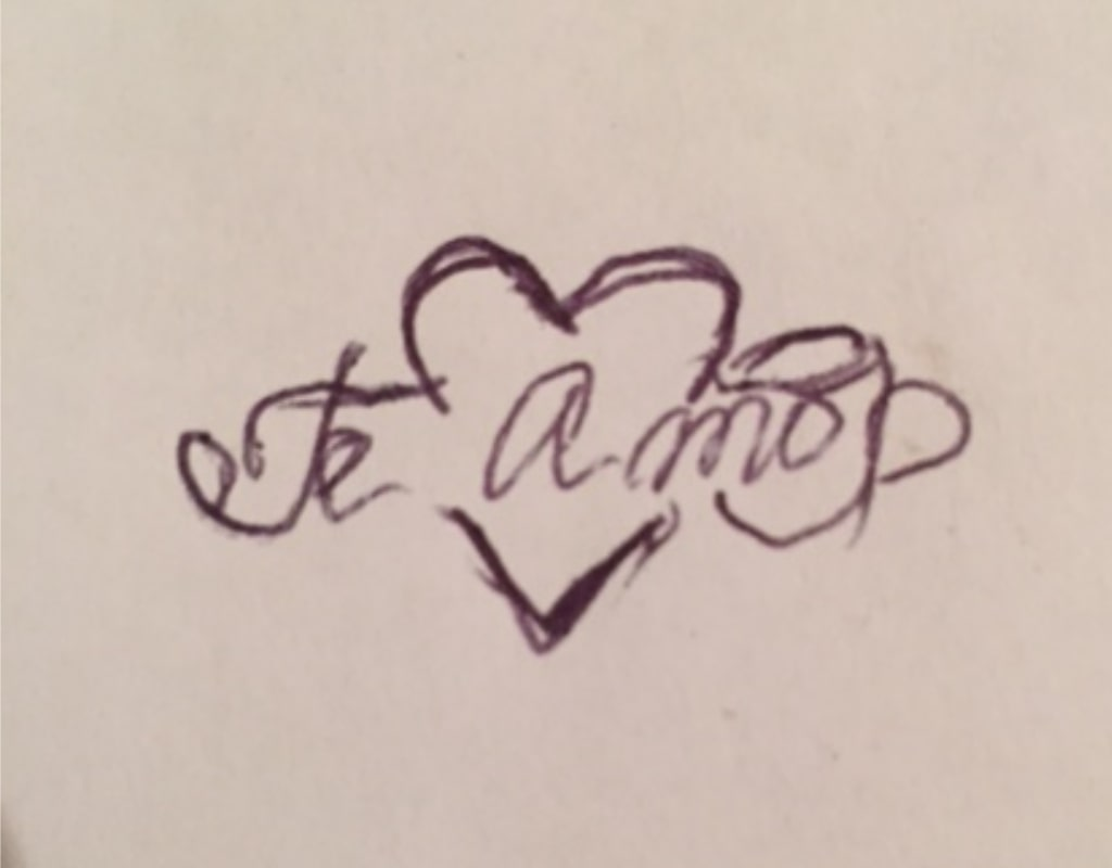 Te Amo эскиз логотипа