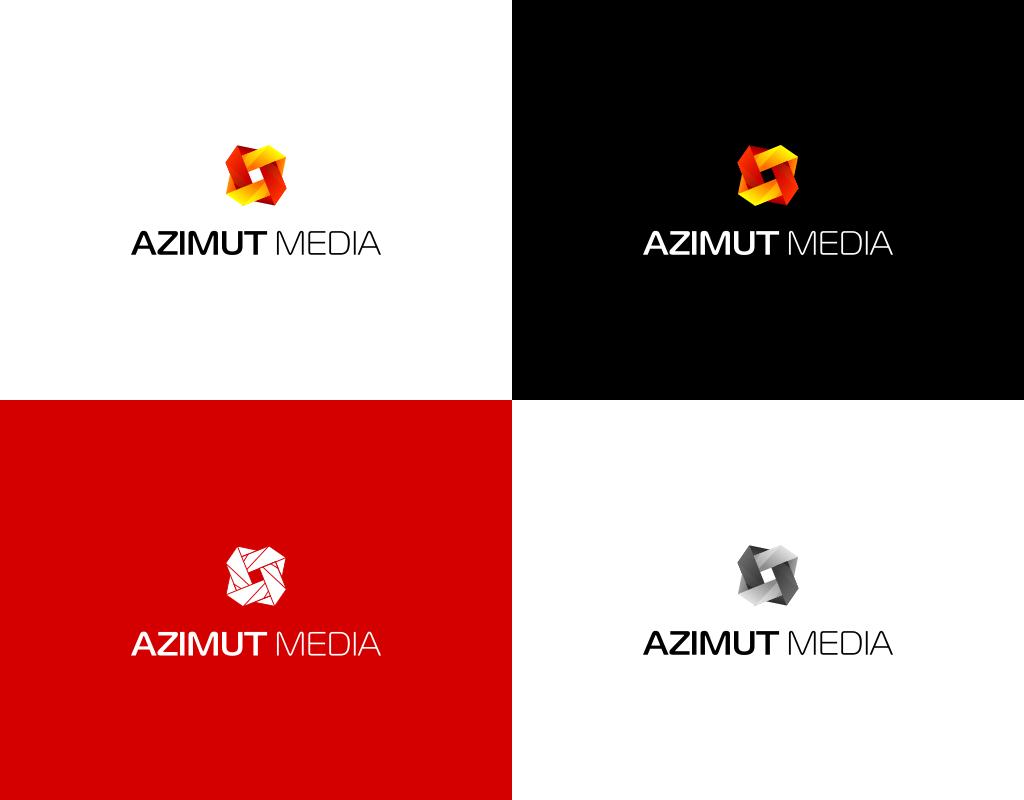 Azimut Media логотип цветовые схемы