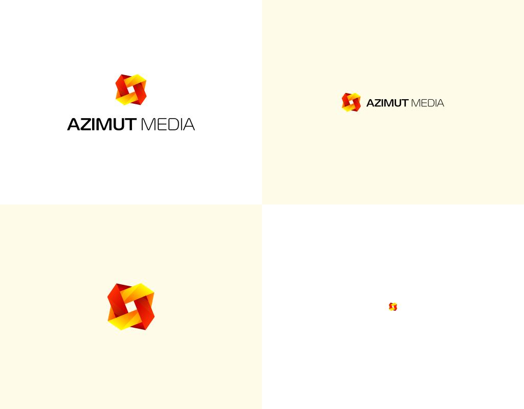 Azimut Media логотип медийного агентства альтернативные формы