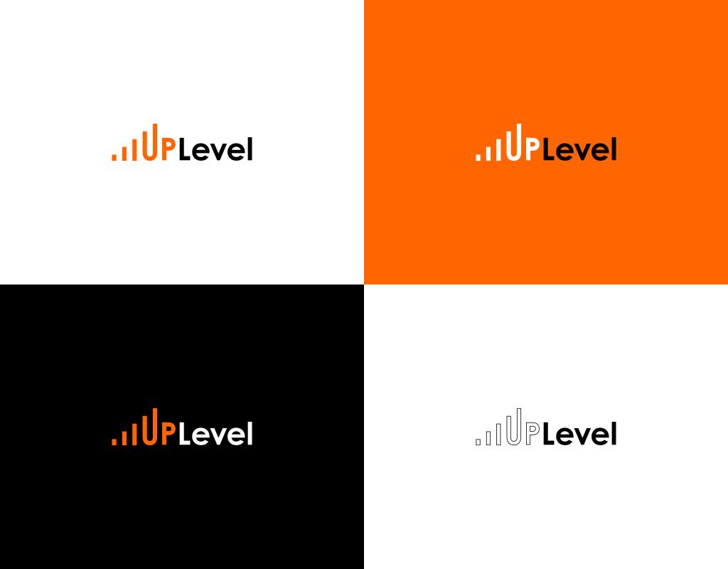UpLevel логотипа тренингового центра цветовые схемы