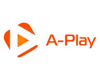 Логотип для видео плэй буква А