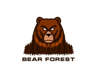 Логотип медведь лес