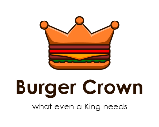 Логотип бургер корона