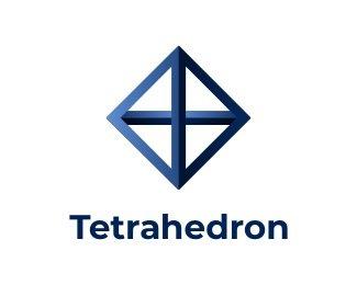 Логотип тетраэдр пирамида