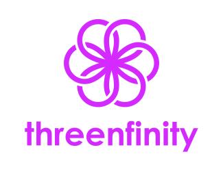 Логотип бесконечность цветок
