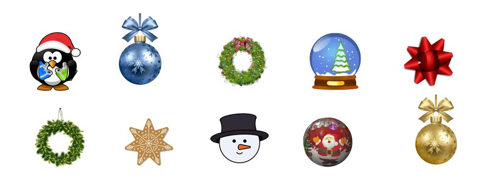 новогодние иконки для логотипа