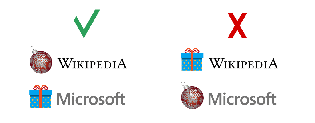 Как украсить свой логотип к новому году