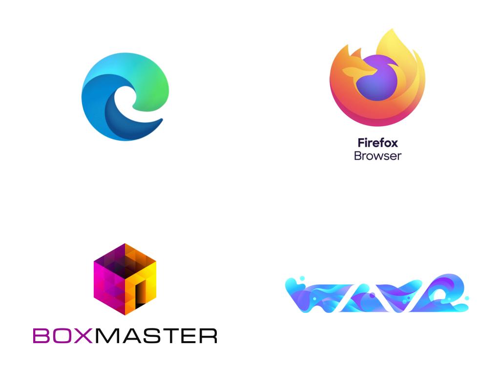Тренды логотипов в 2020 году - градиенты