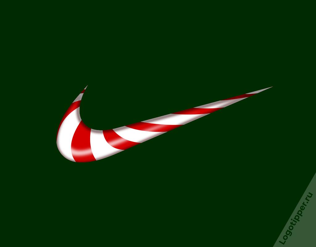 новогодний лого nike