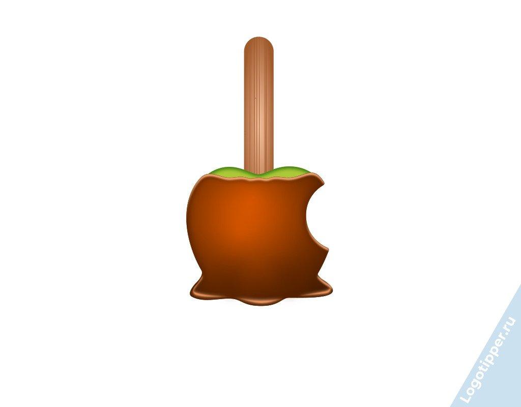 редизайн логотипа apple к новому году