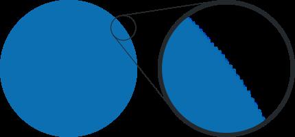 увеличенный логотип в растре