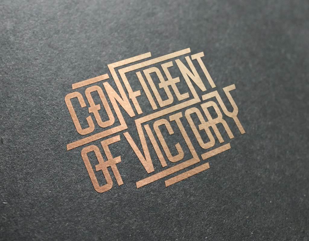 визуализация логотипа confident of victory