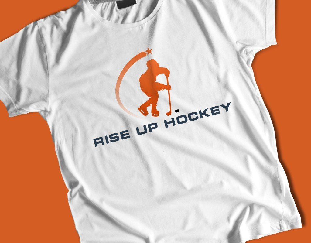 визуализация отрисованного логотипа rise up hockey