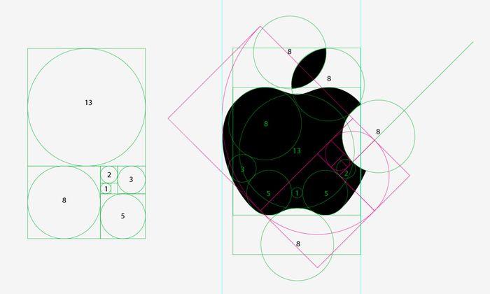 Лого Эппл построено по золотому сечению