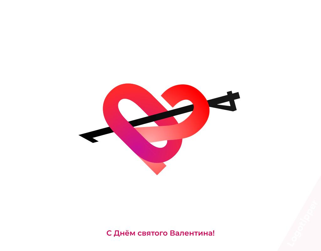 Логотип для дня святого валентина Logotipper.ru
