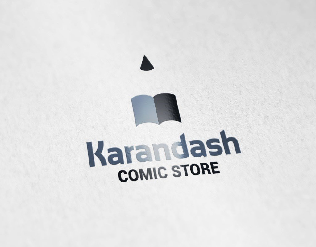 разработка логотипа для магазина комиксов карандаш
