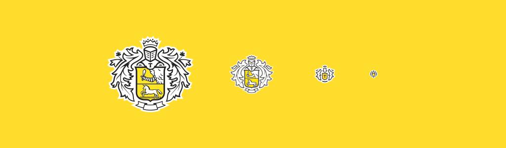 Упрощённые версии логотипа Тинькофф