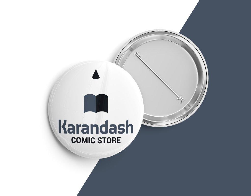 фирменные значки для магазина комиксов