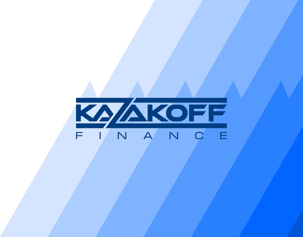 Лого и фон Kazakoff Finance