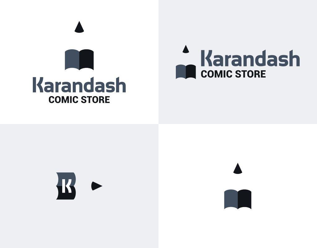 логотип для магазина комиксов