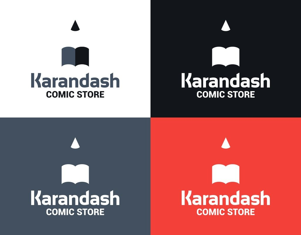 разработка логотипа для магазина комиксов