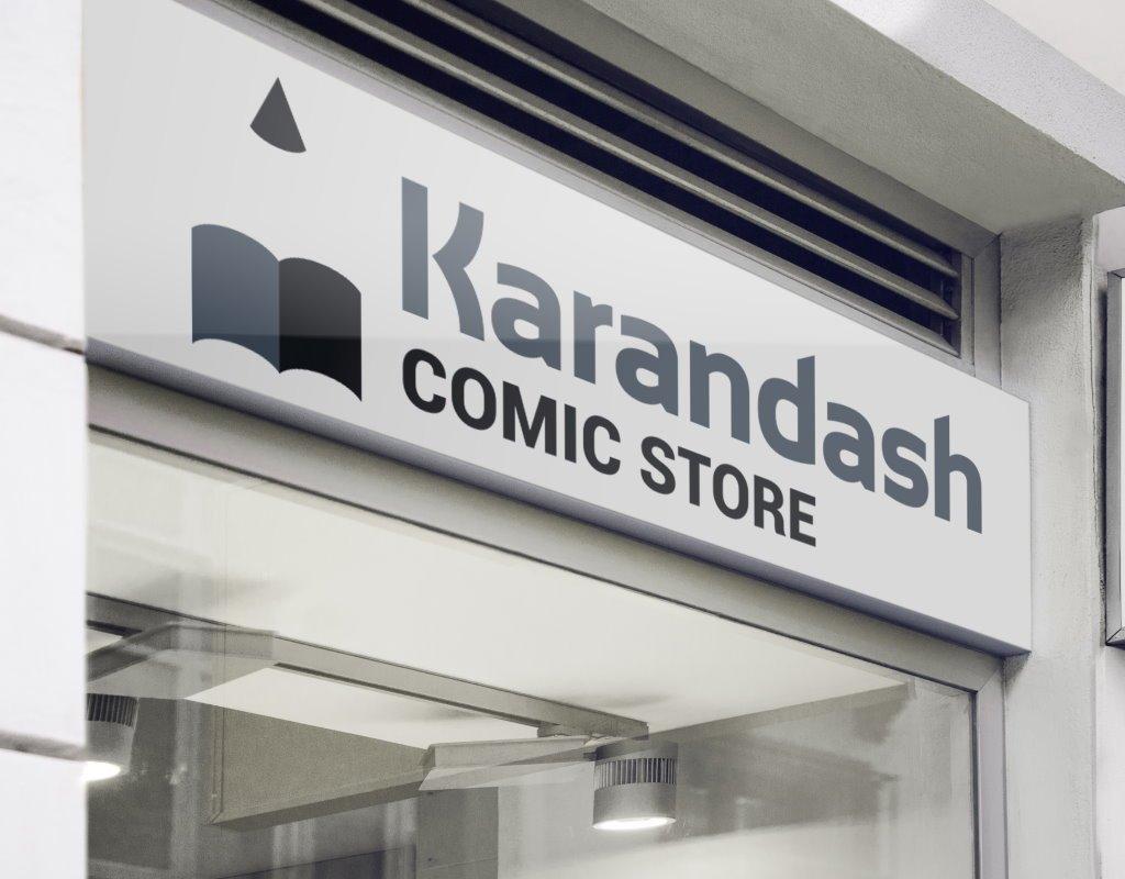 вывеска логотип для comic store