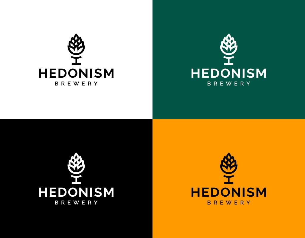 Цвета логотипа Hedonism brewery