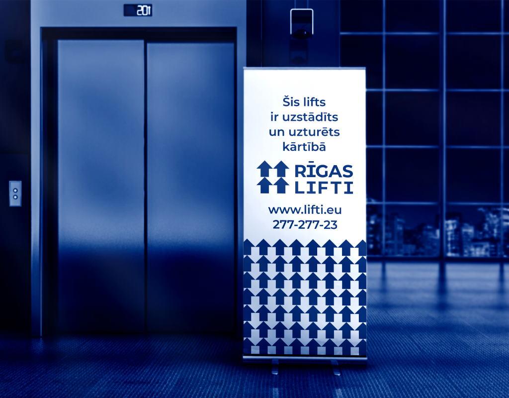 фирменный стиль для компании по установке и ремонту лифтов