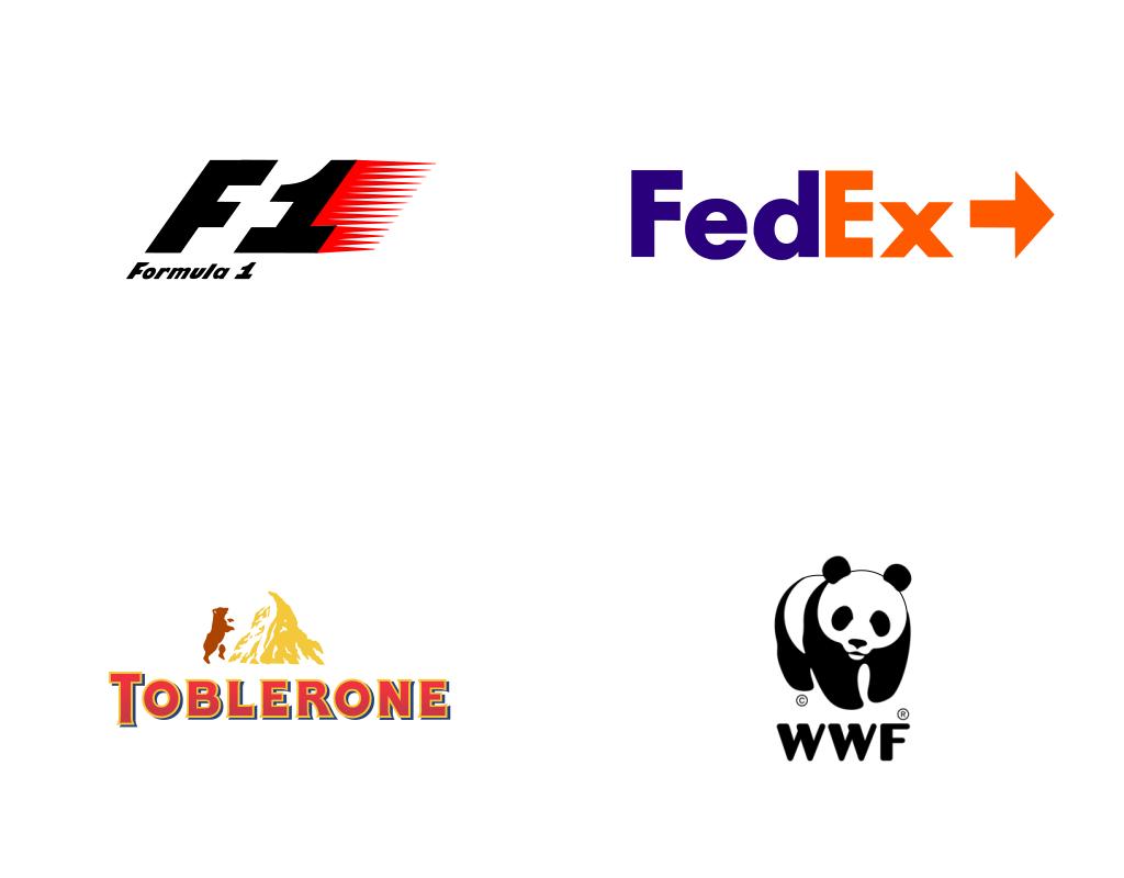 Известные логотипы с игрой контрформы без контрформы