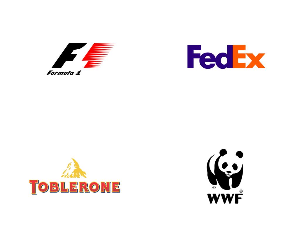 Известные логотипы с игрой контрформы