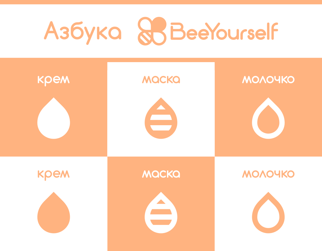 Косметика BeeYourself упаковка азбука