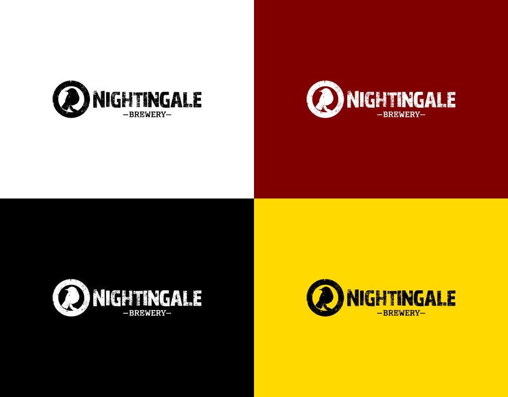 Nightingale brewery логотип цветовые схемы