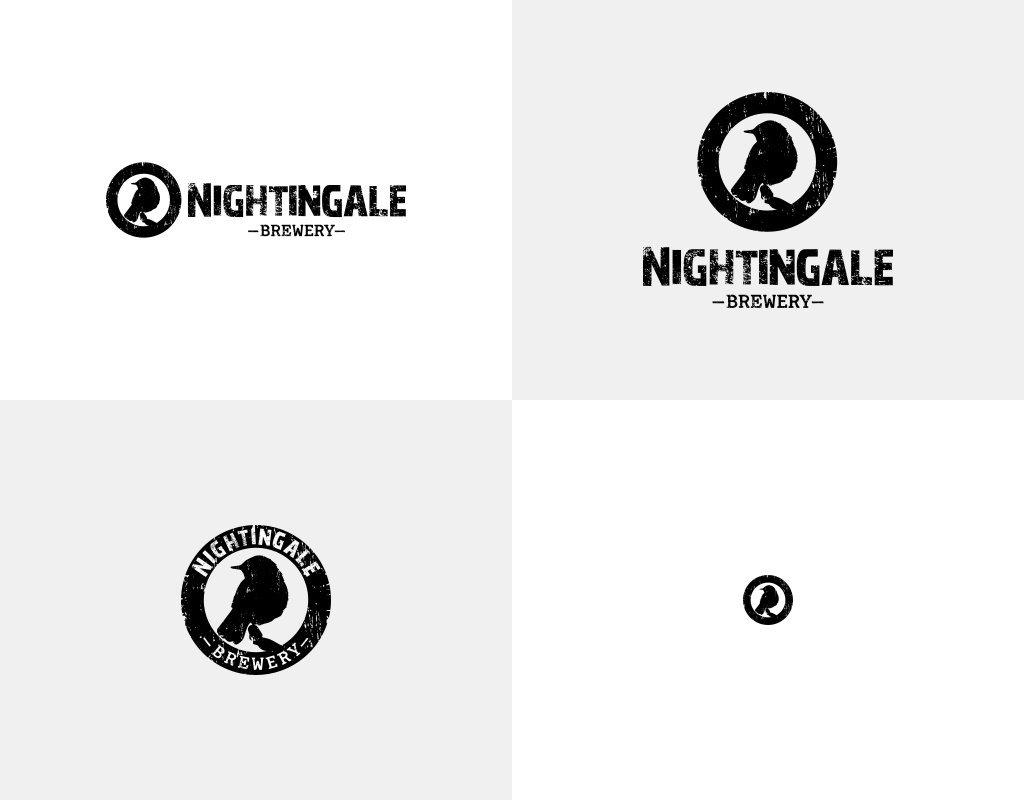 Nightingale brewery логотип для пивоварни