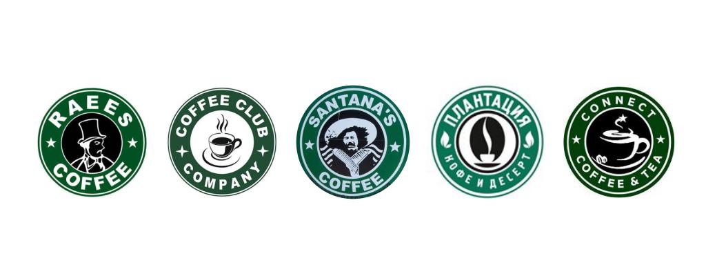 Похожие логотипы на Старбакс