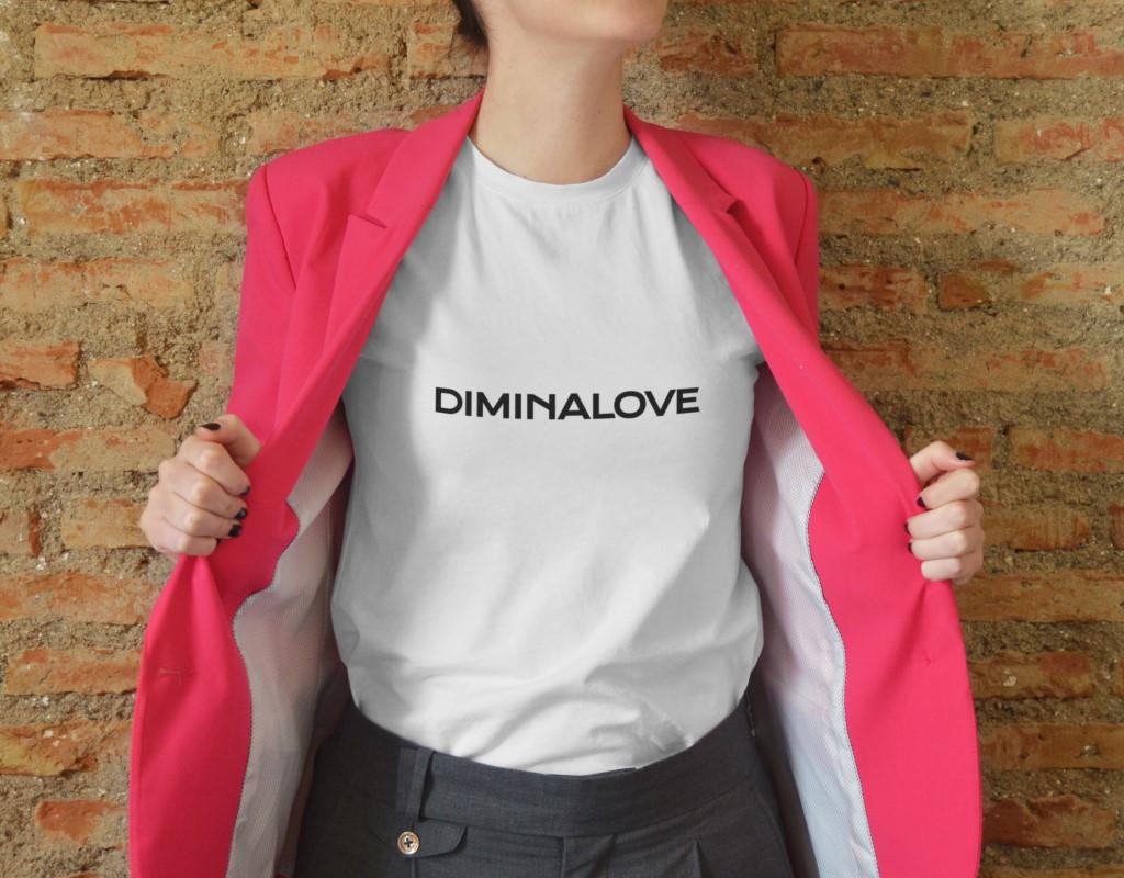 лого для бренда одежды diminalove