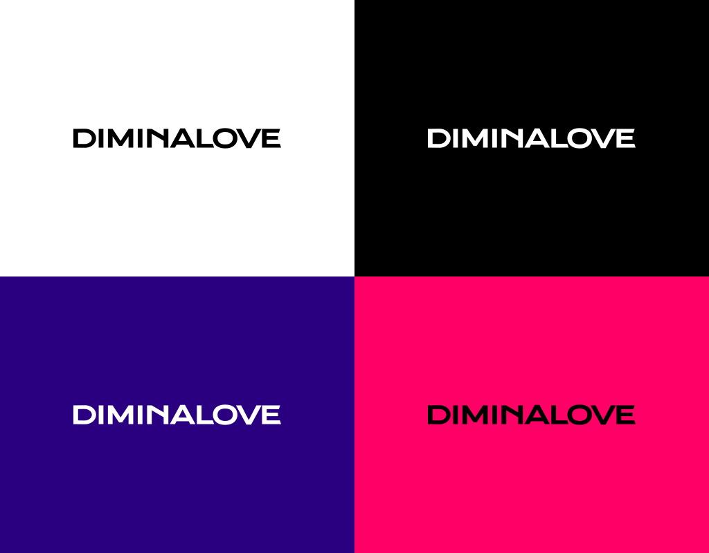 лого для бренда женской одежды diminalove