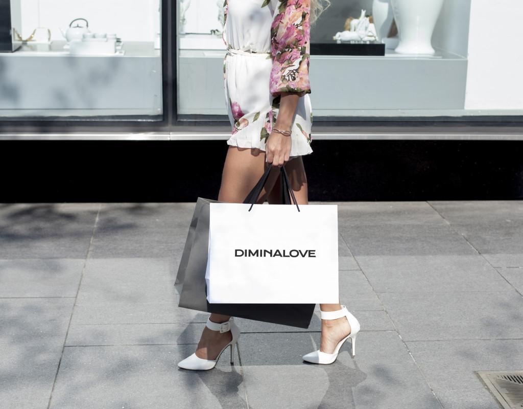 разработка логотипа для бренда одежды diminalove